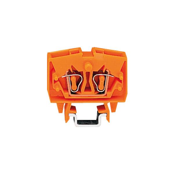 WAGO 264-726 4 Conductor Through Mini Terminal Block Orange