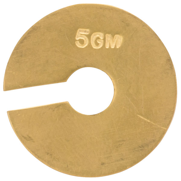 Image of Rapid Brass Plated Slotted Masses - 1 x 20g