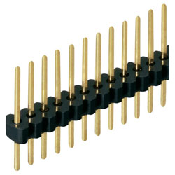 Fischer SLV W 1 055 36 G Slim Male Header 1x36 Vertical 1.27mm Gold 5.5mm Pins