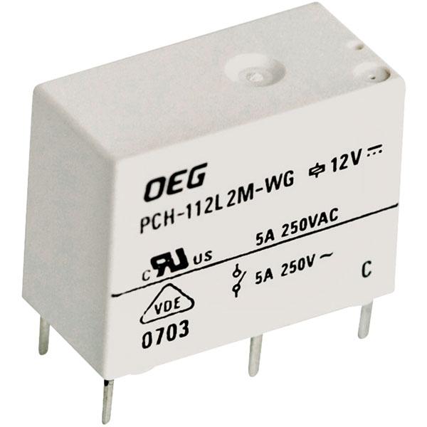 PCB RELAY PCH-112L2M-WG 12VDC SPST-NO TE CONNECTIVITY // OEG 5A