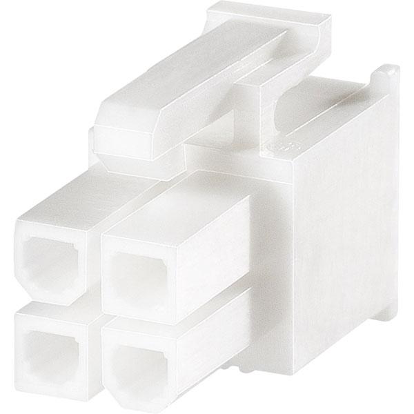 Image of TE 1-1586019-2 Val-U-Lok V0 Socket Housing 2 x 6P White