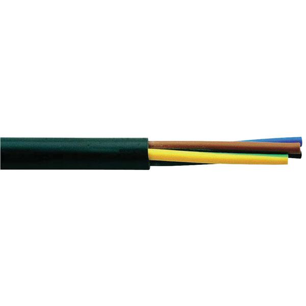 Image of Faber Kabel 030006 Flexible Flame-retardant H03VV-F 3x 0.75mm² Bla...