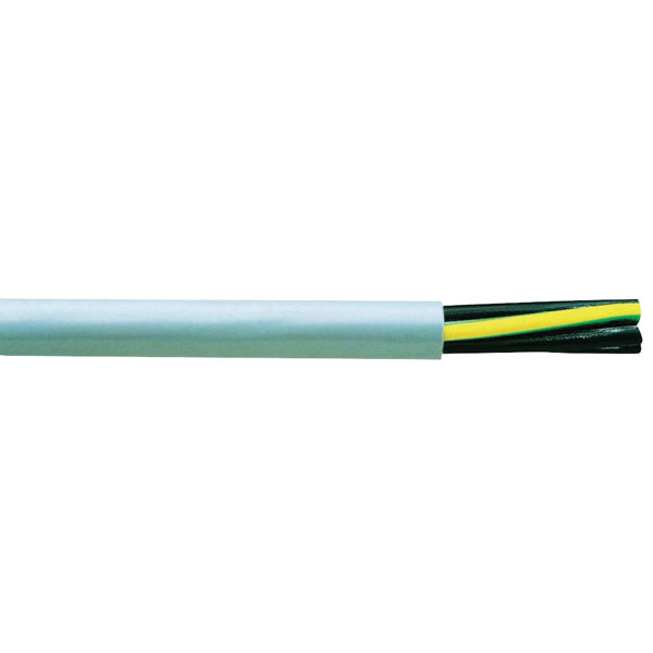 Image of Faber Kabel 030123 Control Cable Flame-retardant Y-JZ 5 x 1mm² Grey
