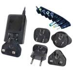 PowerPax UK SW4463-B 9V DC 1.67A PSU UK EU US AU Pins 2.1mm Connector