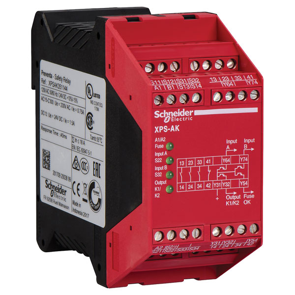 Schneider Electric Xpsa Emergency Stop Safety Relays Rapid Online