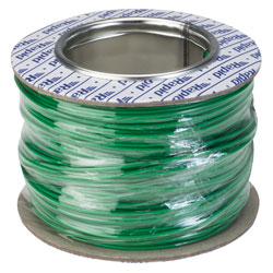 Rapid GW010315 Equipment Wire Single Core 1/0.6 Green (Reel of 100m)
