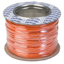 Rapid GW010325 Equipment Wire Single Core 1/0.6 Orange (Reel of 100m)