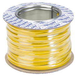 Rapid GW010350 Equipment Wire Single Core 1/0.6 Yellow (Reel of 100m)