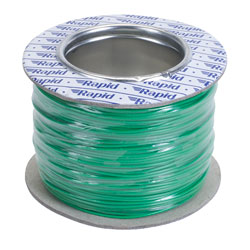Rapid GW010415 Equipment Wire Green 7/0.2 (100m Reel)