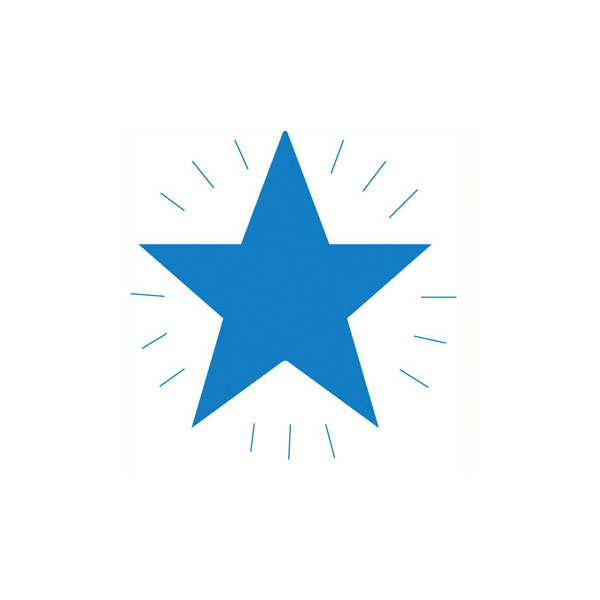 Image of Xstamper Clix Stamper - Blue Star