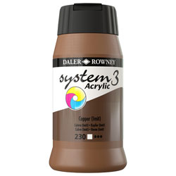 Daler Rowney System 3 Acrylic Paint Copper (500ml)