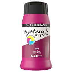 Daler Rowney System 3 Acrylic Paint Purple (500ml)