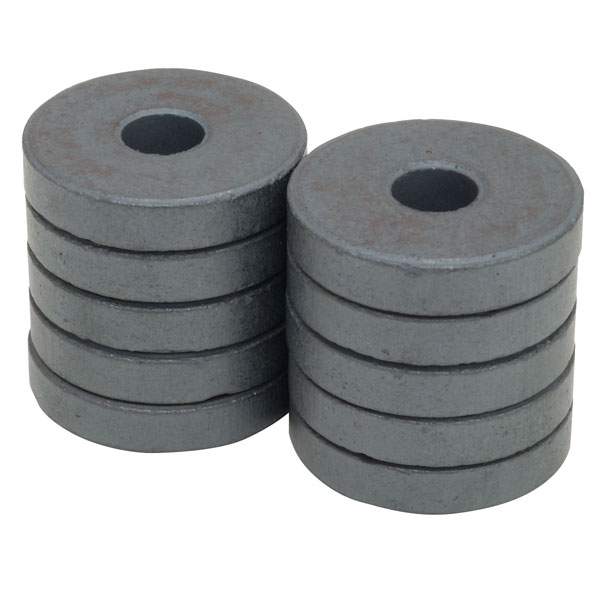 Image of Shaw Magnets - Ferrite Ring Magnets - 24mm - Pack of 10