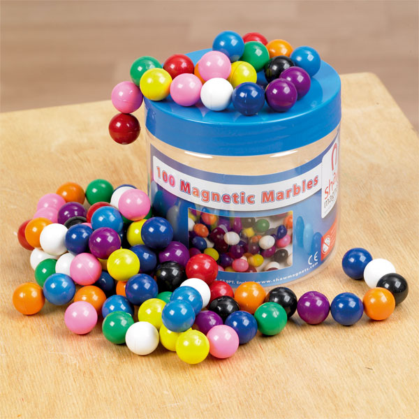 Image of Shaw Magnets - Magnetic Marbles - Tub of 100