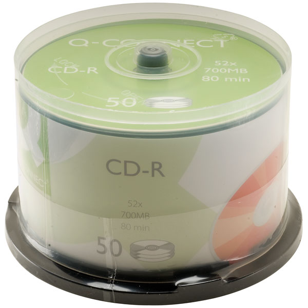 Image of Q-Connect KF00421 CD-R (80 Min 700Mb) Spindle Pack of 50