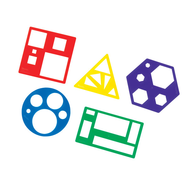 Image of Learning Resources Shapes Template Sets Pack 5