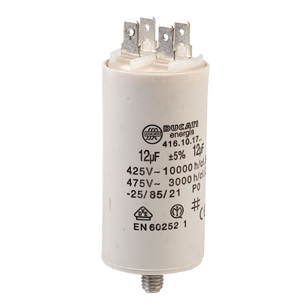 Twin Cable 12uF Motor Run Capacitor 450V