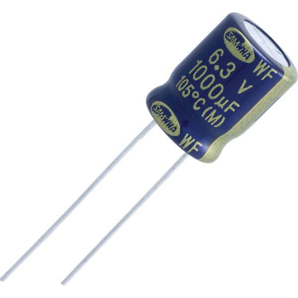 Samwha WF1E477M10016 470µF 20% 25V 105°C Low Imp Radial Alum Elect...