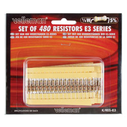 Velleman K/RES-E3 E3 Carbon Film Resistor Kit 480 Pieces