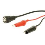 PJP 7087 BNC Plug to Mini Croc Clips Lead