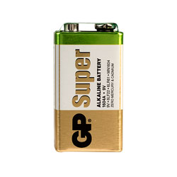 GP GPPVA9VAS004 PP3 9V Alkaline Battery