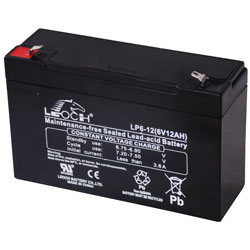 Leoch LP6-12 Sealed Lead Acid Battery SLA 6V 12Ah