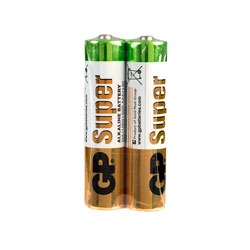 GP GPPCA24AS004 Alkaline AAA Batteries (Pack 2)