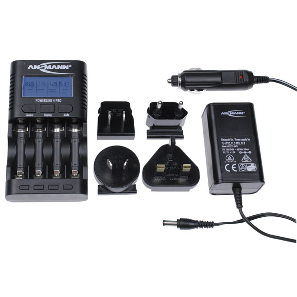 Ansmann 1001-0005-UK-1 Powerline 4 Pro Battery Charger