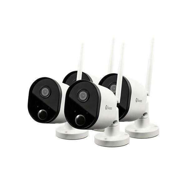 Swann SWWHD-OUTCAMPK4-UK 1080p Outdoor WiFi Camera - 4 Pk White