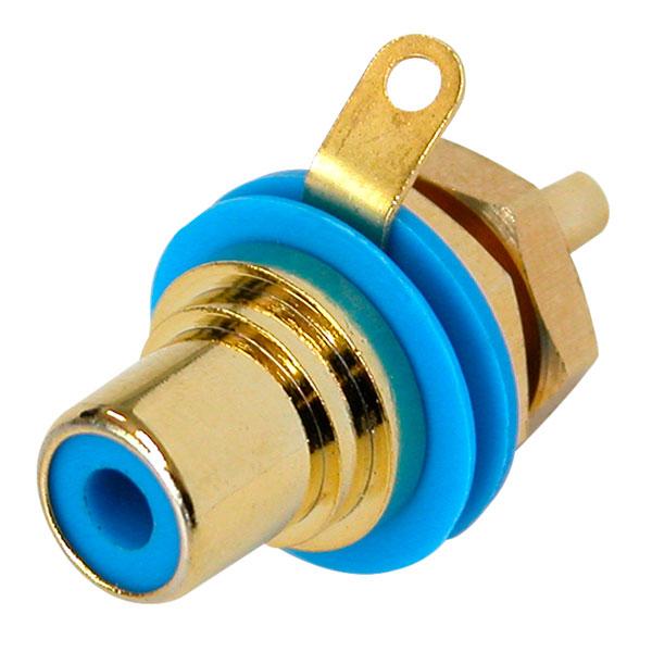 Neutrik AG NYS367-6 Phono Jack Gold Plated Blue