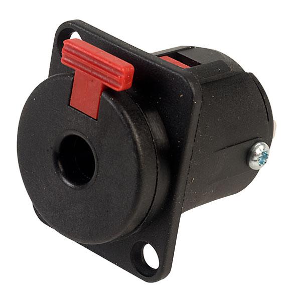 Neutrik NJ3FP6P-BAG Locking Chassis Jack Socket 6.3mm (Black)