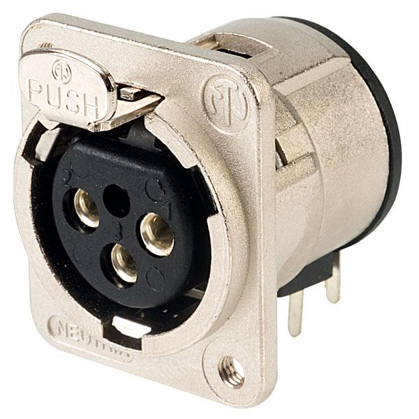 Neutrik NC3FDM3-H-D Horizontal PCB XLR Socket