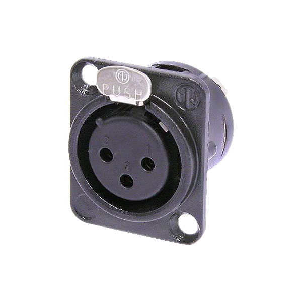 Neutrik NC3FD-L-B-1 XLR Panel Mount Socket 3-Pole