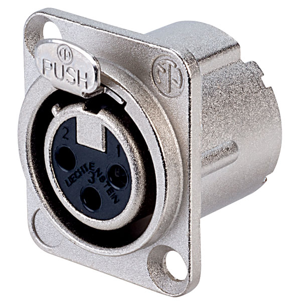 Neutrik 3 Pole NC3FD-LX Panel Socket
