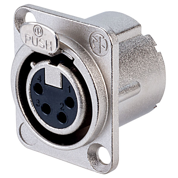 Neutrik 4 Pole NC4FD-LX Panel Socket