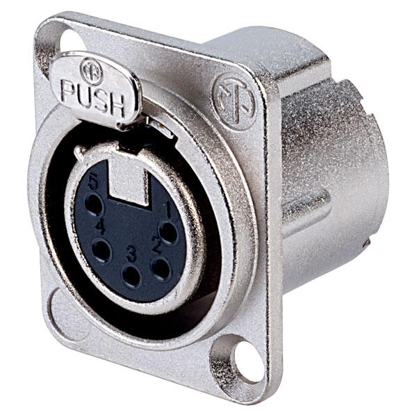 Neutrik 5 Pole NC5FD-LX Panel Socket