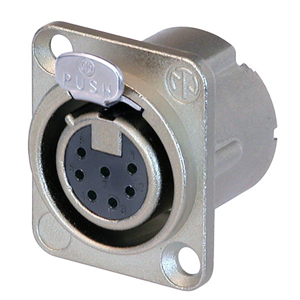 Neutrik 7 Pole NC7FD-LX Panel Socket