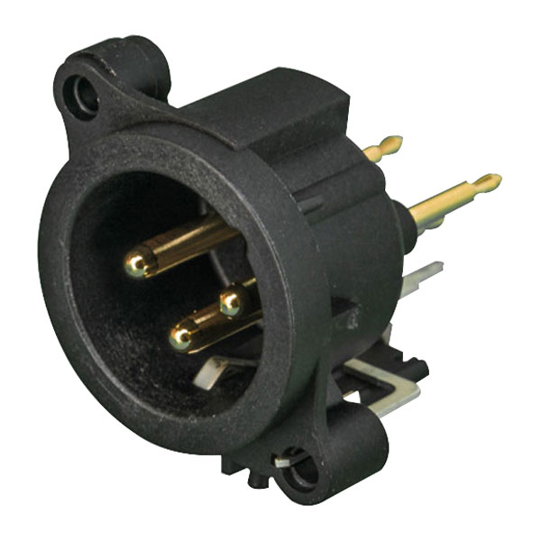 Neutrik NC3MAAV PCB XLR Vertical 3-Pin Plug