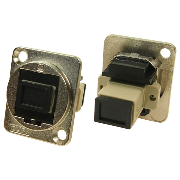 Cliff CP30216M Metal XLR Feedthrough SC Simplex MM Adaptor CSK Hole