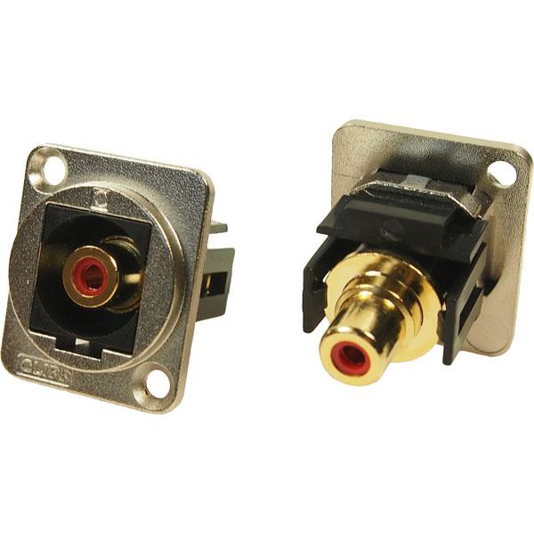 Cliff CP30230M Metal XLR Feedthrough RCA Phono Red CSK Hole