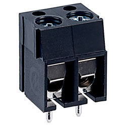 CamdenBoss CTB1201/2BK 2 Way 16A Low Profile Terminal Block 5mm Pitch