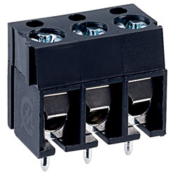 CamdenBoss CTB1201/3BK 3 Way 16A Low Profile Terminal Block 5mm Pitch