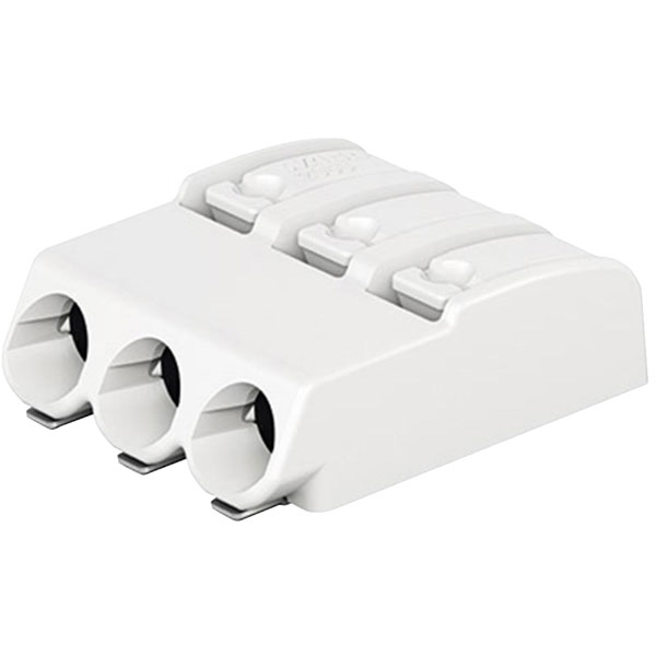 Image of WAGO 2060-453/998-404 SMD Terminal Block 4mm 3 Pole White Tape & Reel