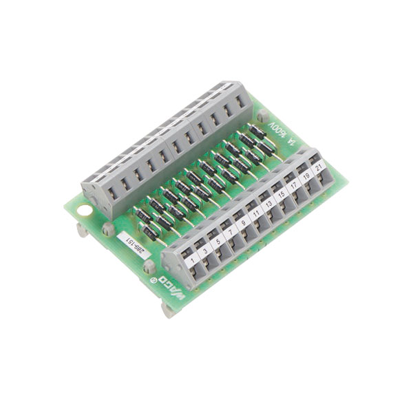 WAGO 289-151 Component Module with 20 Diodes No Carrier