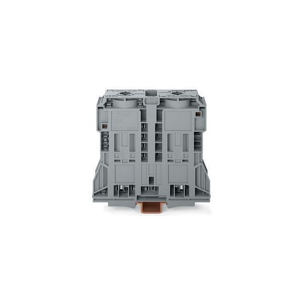 WAGO 285-1185 2 Conductor 353A Side Entry Through Terminal Block Grey
