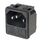 Inalways 0717-1-PW Snapfit 6.3mm Plug