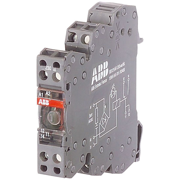 ABB RB122A 24V AC/DC 1SNA645012R2500 Screw Relay 1DPDT 1mA up to 6...