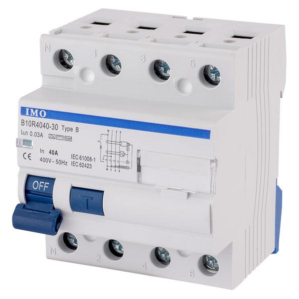 IMO B10R4040-30-B 40A 4P RCCB 30mA Type B 4Mod