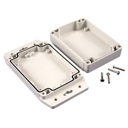 Hammond 1555FF17GY IP67 Watertight Enclosure with Flanged Lid (120 x 91 x 37mm)