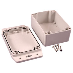 Hammond 1555FF42GY IP67 Watertight Enclosure with Flanged Lid (120 x 91 x 62mm)